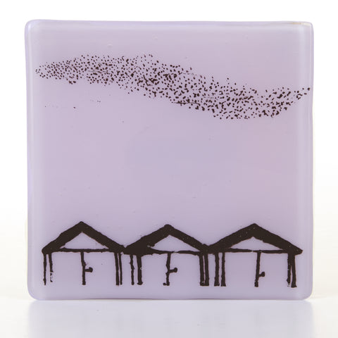 Beach Hut and Murmuration Coaster, black