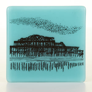West Pier and Starlings Coaster in black