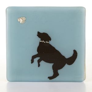Dog and Ball Glass Coaster