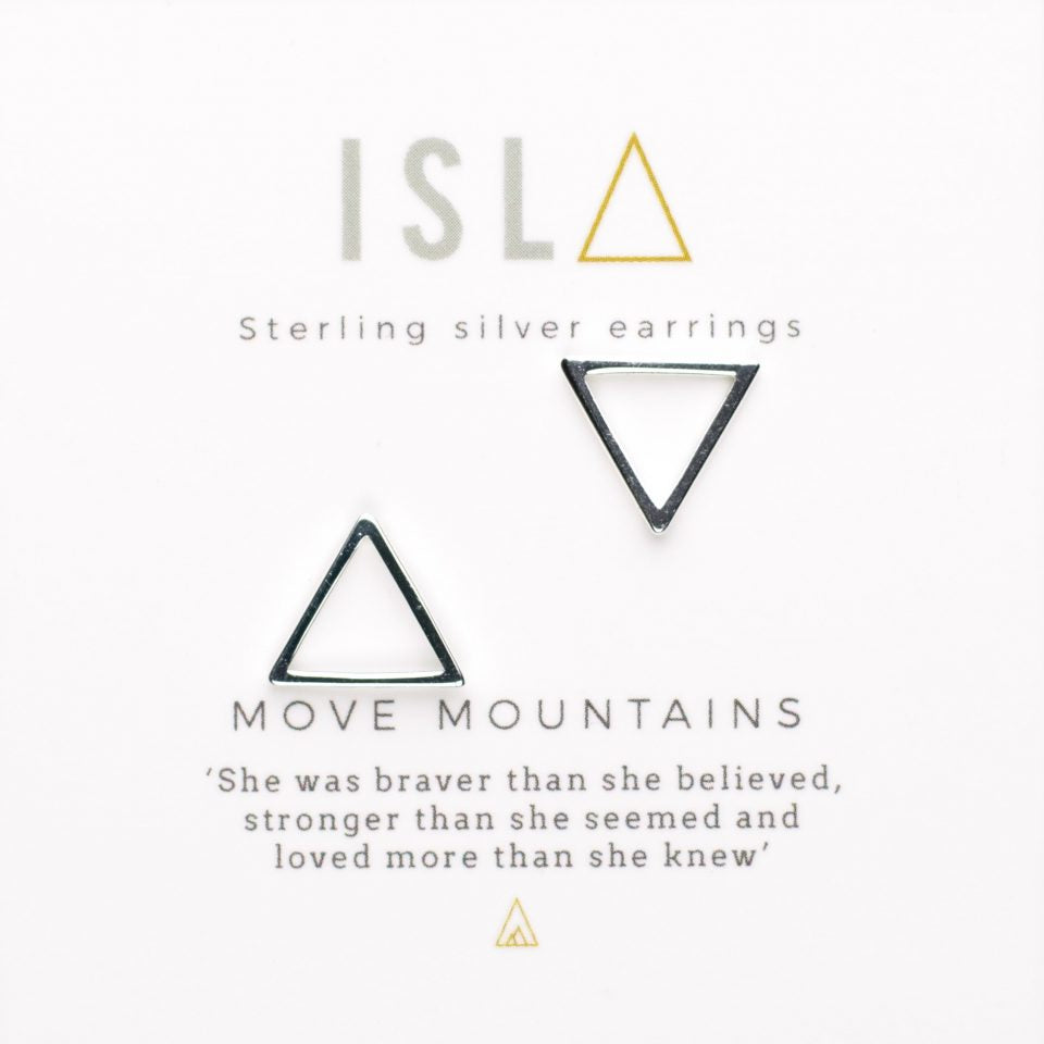 Sterling Silver 'Move Mountain' Earrings