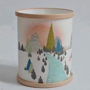 """A New Day"" Illustrated Lamp/Candle Cover"