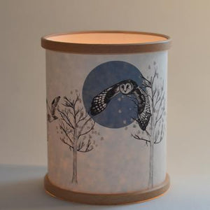 """Flying Owl"" Lamp / Candle Cover"