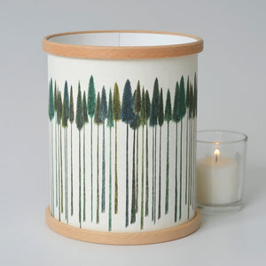 """Green Trees"" Lamp / Candle Cover"