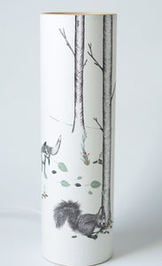 """Woodland"" Lamp, Illustrated Parchment Paper Lighting"