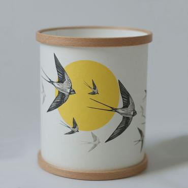 """Flying Swallows"" Lamp / Candle Cover"