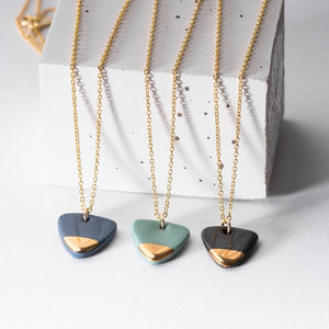 Porcelain Gold Dipped Arrow Necklace