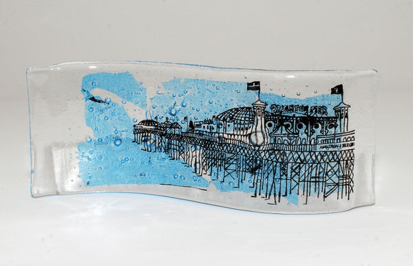 Handmade Glass Art - Brighton Pier wave