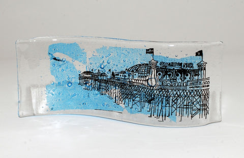 Brighton Illustrated Series, Palace Pier Glass Wave