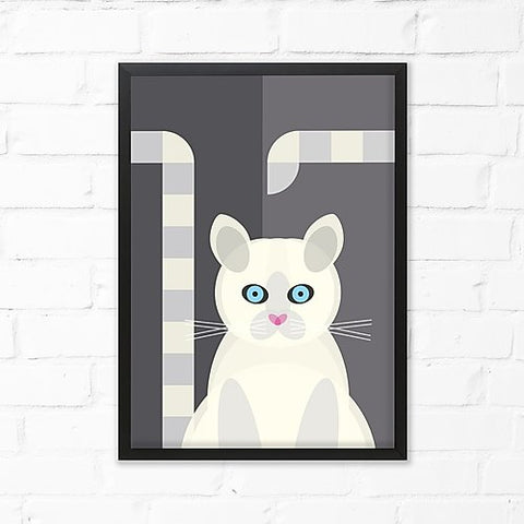 Mid-Century Cat Print by Cloud Cuckoo design