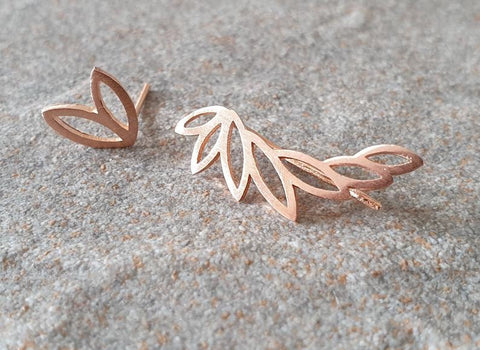 Leaf Ear Cuff Duo