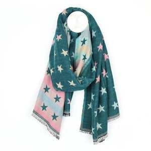 Super Soft Reversible Star Scarf