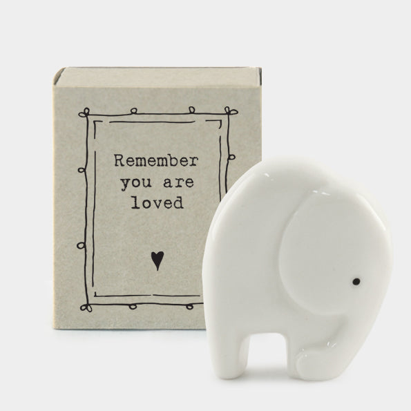 Matchbox elephant 'Remember you are loved'