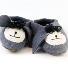 Grey Sheep Felt Slippers for Adults