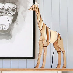 Giraffe Timber Lamp