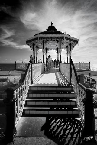 'Brighton Bandstand' Black and White Photographic Print