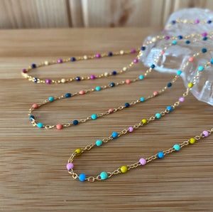 Dainty Enamel Pastel 'Dot' Necklaces