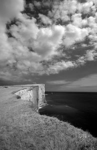 'Beachy Head' Black and White Photographic Print