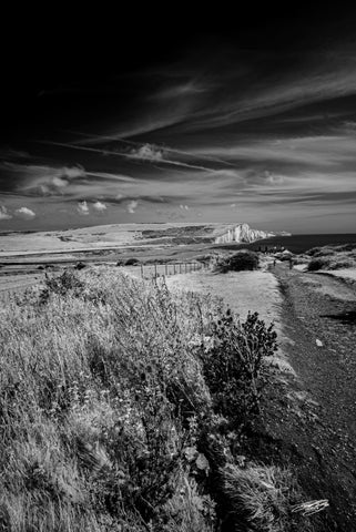 'Seaford Head' Black and White Photographic Print