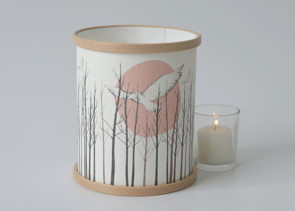 Pink Owl Lamp/Candle Cover