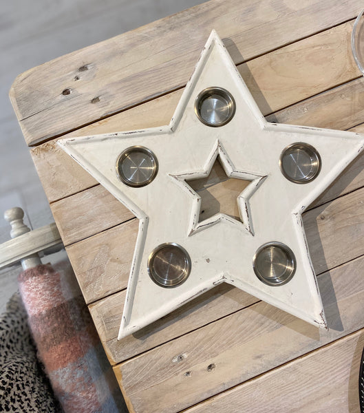 Star Shaped Festive Candle Holder