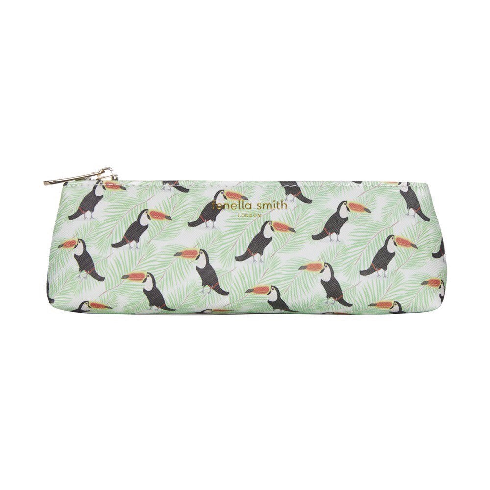 Toucan Vegan Leather Pencil Case