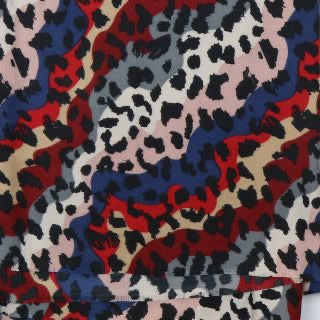 Red Mix Leopard Print Scarf