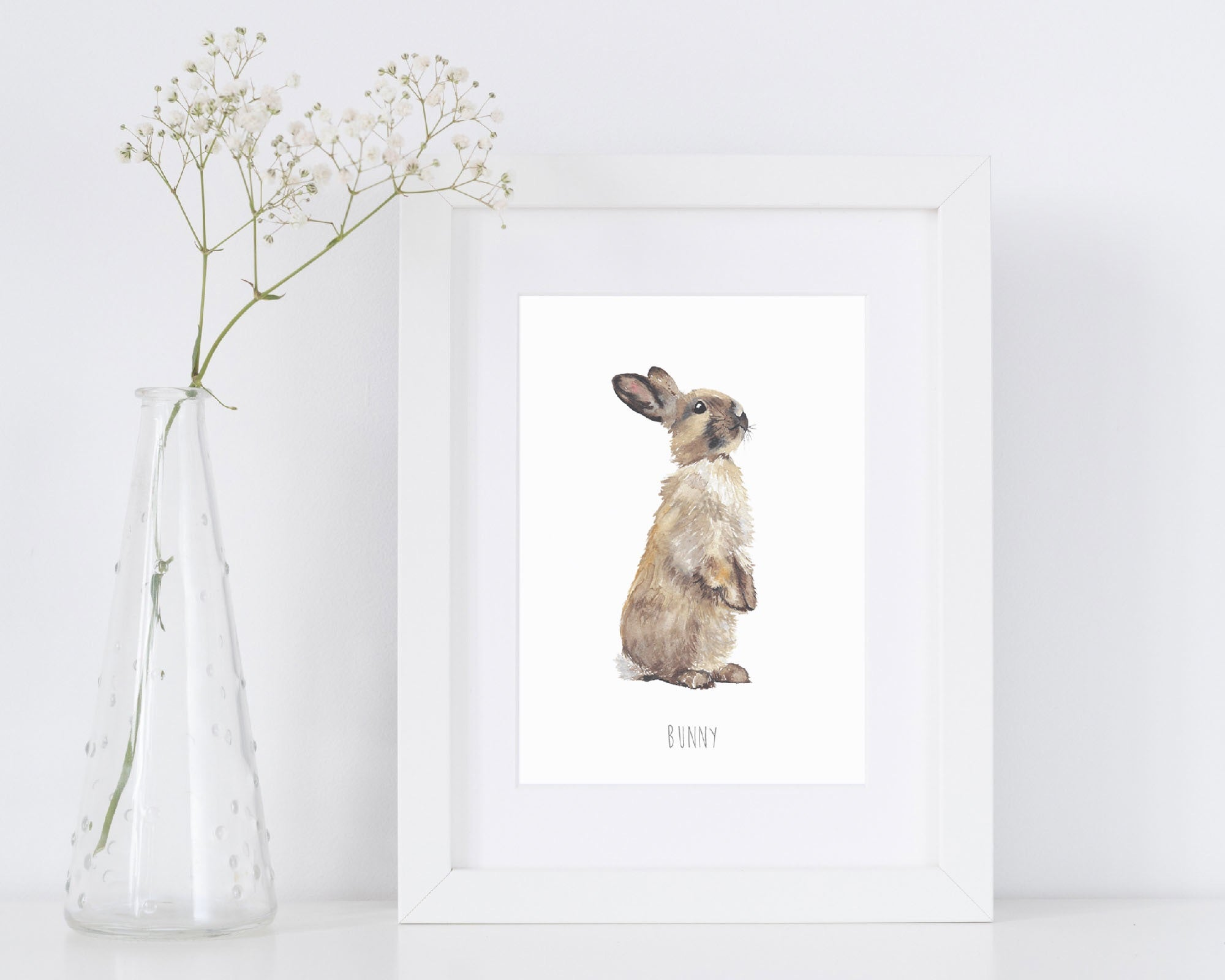 Bunny Art Print by Katie Hipwell