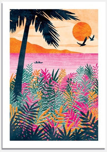 Sundown Art Print by Ruth Thorp