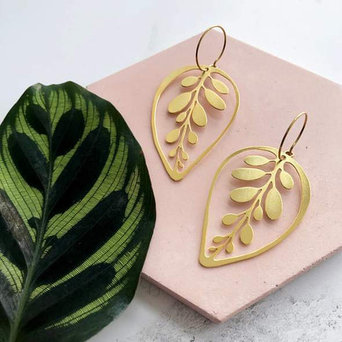 Gold Makoyana Hoop Earrings