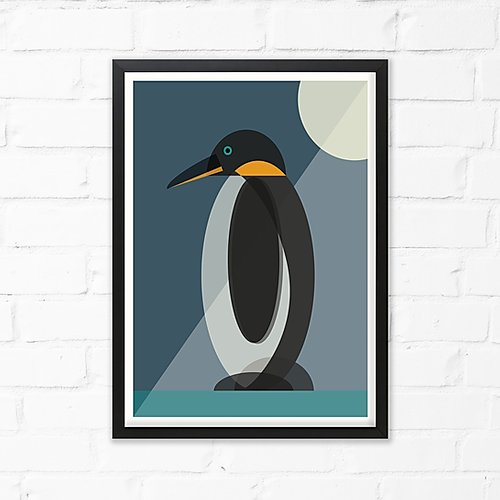 Penguin Art Print by Cloud Cuckoo design