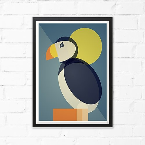 Puffin Art Print by Cloud Cuckoo design