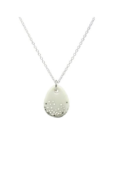 Porcelain Raindrop Mist Earrings / Necklace
