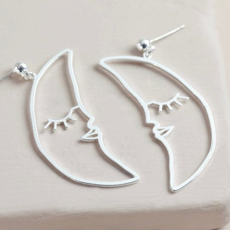 Sleeping Crescent Moon Earrings