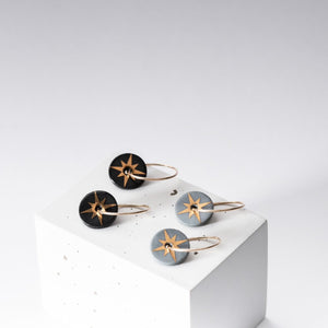Gold Star Porcelain Earrings