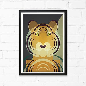 Tiger Art Print by Cloud Cuckoo design