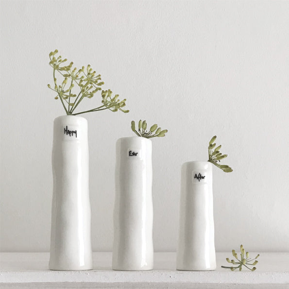 Trio of Bud Porcelain Vases
