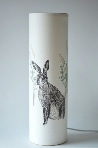 Wild Hare Lamp, Illustrated parchment paper lighting