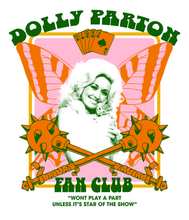 Load image into Gallery viewer, DOLLY PARTON FAN CLUB TEE (BLACK) - PRE-ORDER