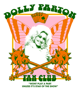 DOLLY PARTON FAN CLUB TEE (BLACK) - PRE-ORDER
