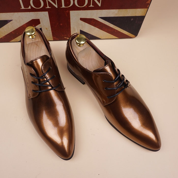 Leather Italian Mens Shoes Casual Luxury