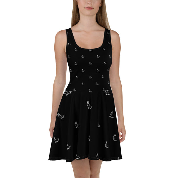All Over Rabbit Skater Dress