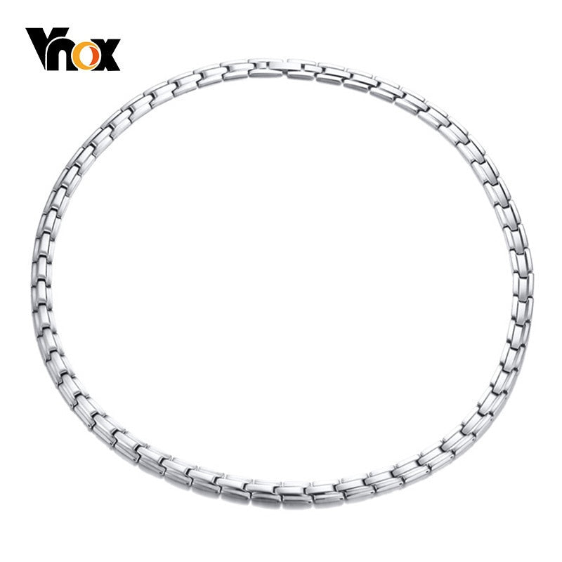 Vnox Stainless Steel Bio Power Magnetic Necklaces For Women