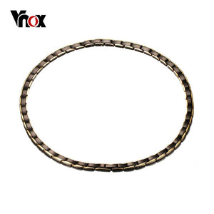 Vnox Black Magnetic H Power Stainless Steel Necklace