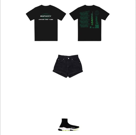 Black/Green Enter The Void Outfit 1