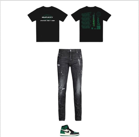 Black Green Enter The Void Outfit