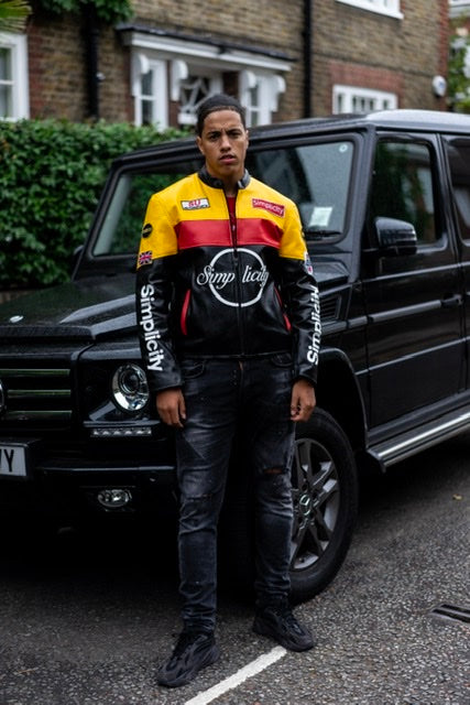 Simplicity V2 Black/Red & Yellow Motorbiker Jacket