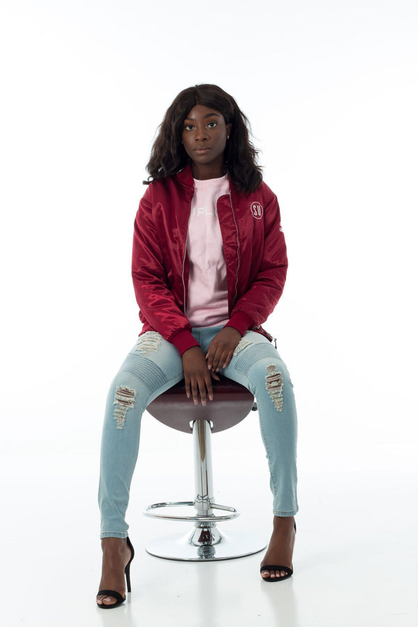 Burgundy Limited Edition Simplicity Bomber Jacket (Women's)