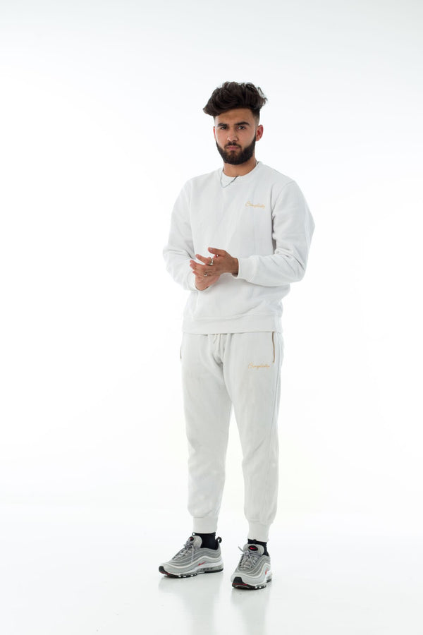 White/Gold Simplicity Tech tracksuit