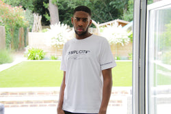 White/ Black Simplicity Signature T-Shirt