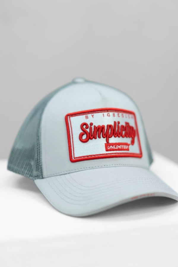 Simplicity Grey & Red box logo cap